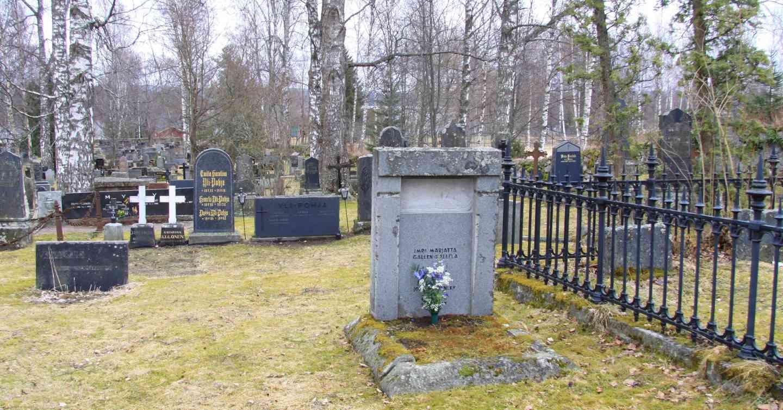Impi-Marjatta Gallén on haudattu Ruoveden kirkkomaalle. Kuva 9.4.2016.