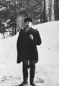 Into Konrad Inha lähdössä Vienan Karjalaan vuonna 1894. Kuvaaja tuntematon. (Aamu Nyströmin kokoelma/Jäähdyspohjan kyläyhdistys.)