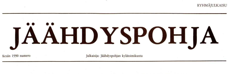 Jäähdyspohja-lehden logo.