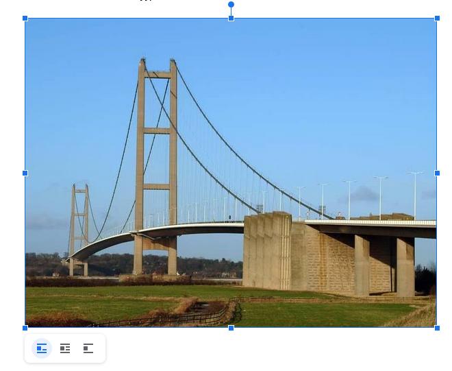 Kuvan koon muuttaminen, Google Docs
